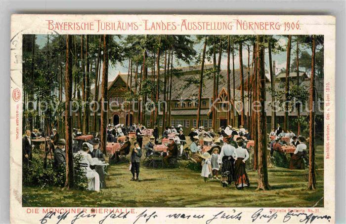 AK / Ansichtskarte Ausstellung Bayr Landes Nuernberg 1906 Muenchner Bierhalle  Kat. Expositions