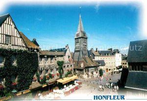 AK / Ansichtskarte Honfleur Place de Ste Catherine Hostellerie Lechat Kat. Honfleur