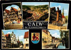 AK / Ansichtskarte Calw Panorama Schwarzwald Altstadt Partie an der Nagold Kat. Calw