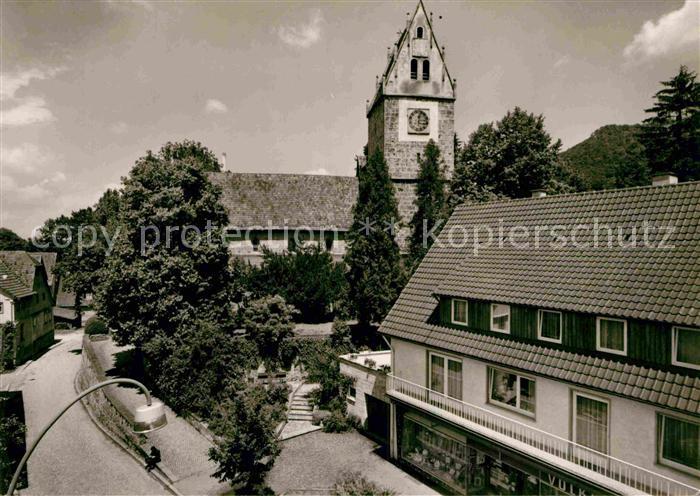 AK / Ansichtskarte Oberlenningen Rathaus Ortsansicht Kat. Lenningen