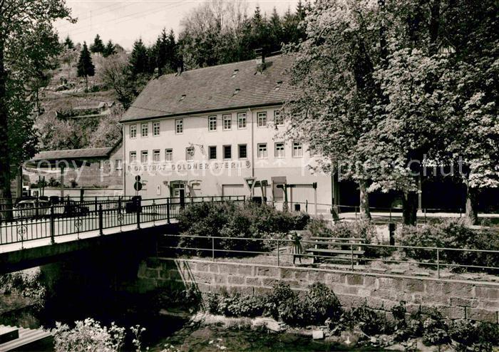 AK / Ansichtskarte Altensteig Schwarzwald Gasthof Pension Goldner Stern