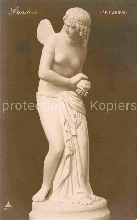 AK / Ansichtskarte Skulpturen Pandore de Canova  Kat. Skulpturen