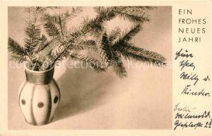 AK / Ansichtskarte Neujahr Tannenzapfen  Kat. Greetings