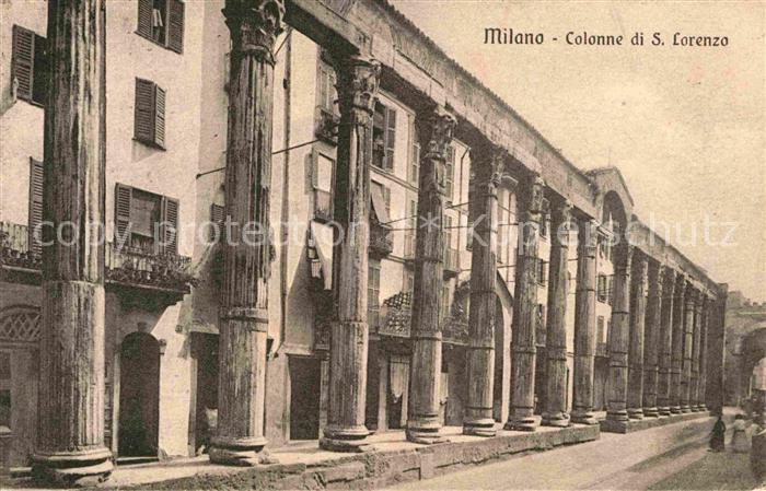 AK / Ansichtskarte Milano Colonne di San Lorenzo Kat. Italien