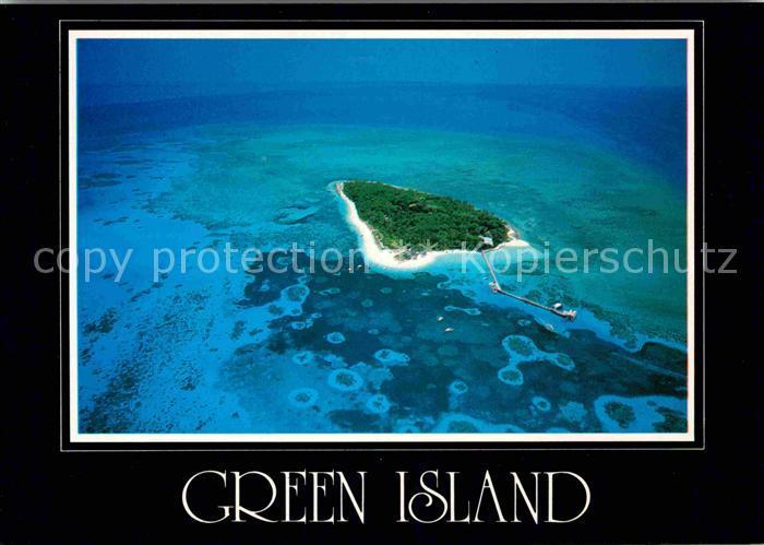 AK / Ansichtskarte Cairns Australia Green Island Great Barrier Reef aerial view Kat. Cairns