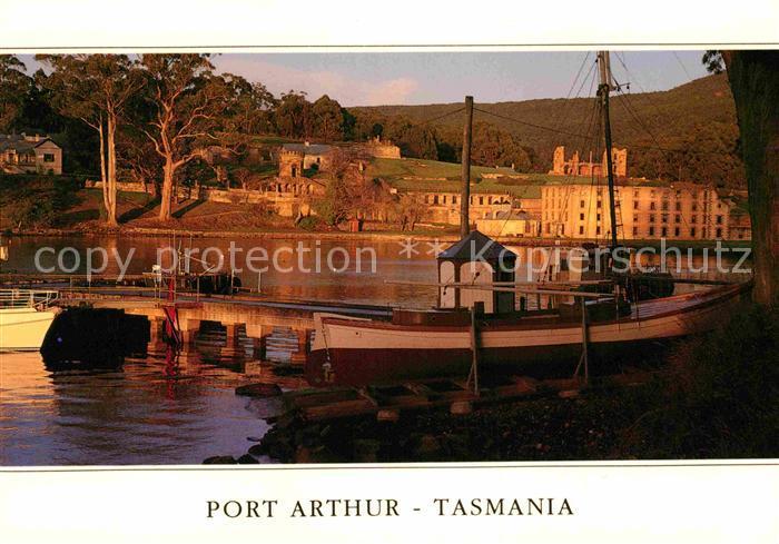 AK / Ansichtskarte Port Arthur Tasmania Hafen in der Abendsonne