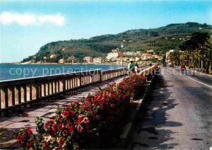 AK / Ansichtskarte Diano Marina Passeggiata a mare sfondo Capo Berta Riviera dei Fiori Kat. Italien