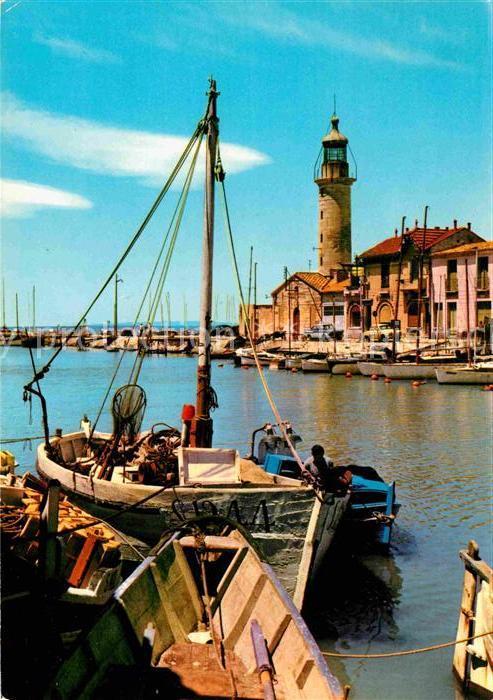 AK / Ansichtskarte Le Grau du Roi Gard Le Vidourle et ses bateaux de peche Kat. Le Grau du Roi
