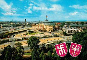 AK / Ansichtskarte Frankfurt Main Blick auf das Messegelaende Wappen Kat. Frankfurt am Main