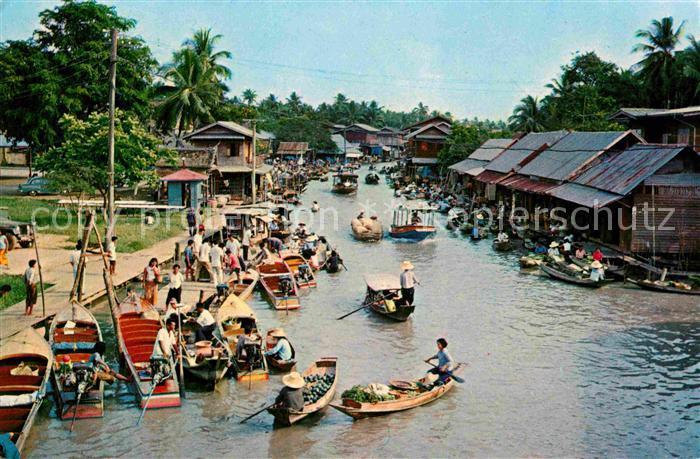 AK / Ansichtskarte Bangkok Wad Sai Floating Market Kat. Bangkok