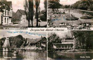 AK / Ansichtskarte Solingen Ittertal Strandbad Brucher Muehle Heidberger Muehle Kat. Solingen