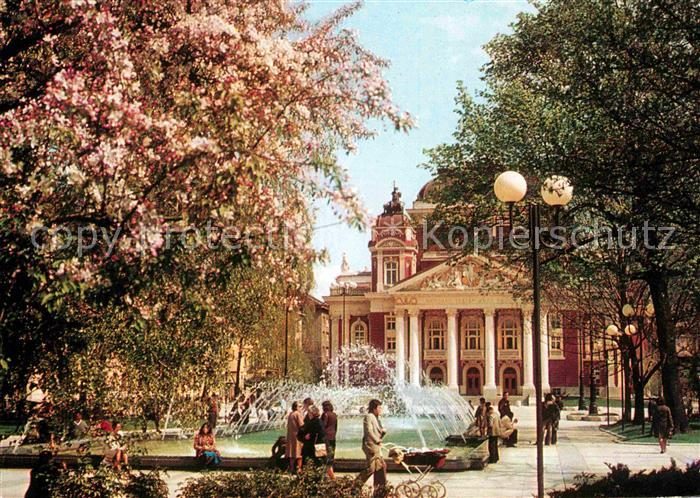 AK / Ansichtskarte Sofia Sophia Nationaltheater Iwan Wasow Wasserspiele Kat. Sofia