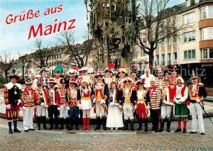 AK / Ansichtskarte Mainz Rhein Eskortenleiter der Mainzer Garden Fastnachtsbrunnen