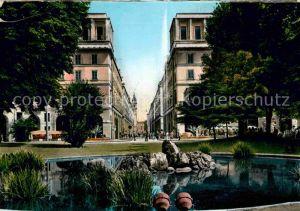 AK / Ansichtskarte Torino Giardini di Piazza Carlo Felice e Via Roma Kat. Torino