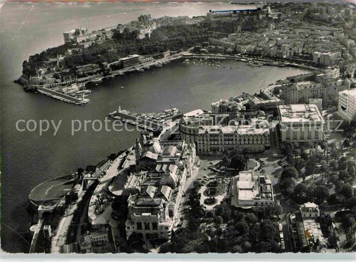 AK / Ansichtskarte Monte Carlo Le Port et le Rocher de Monaco de la Principaute vue aerienne Kat. Monte Carlo