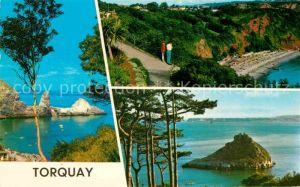 AK / Ansichtskarte Torquay UK Bucht Kueste Strand Insel