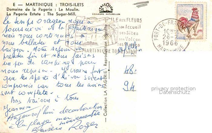 AK / Ansichtskarte Trois Ilets Domaine de la Pagerie Moulin Kat. Martinique 1