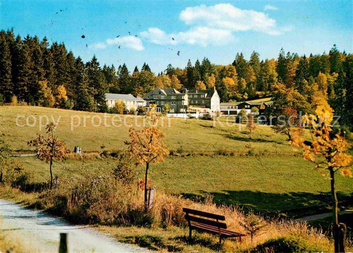 AK / Ansichtskarte Jagdhaus Sauerland Jagdhaus Wiese Hotel Pension Herbststimmung Kat. Schmallenberg