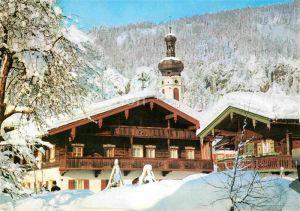 AK / Ansichtskarte Reit Winkl Ortspartie mit Kirchturm Kat. Reit im Winkl