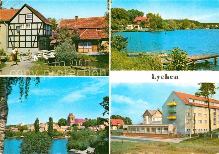 AK / Ansichtskarte Lychen Malerwinkel Oberpfuhlsee FDGB Erholungsheim Bertold Brecht Kat. Lychen