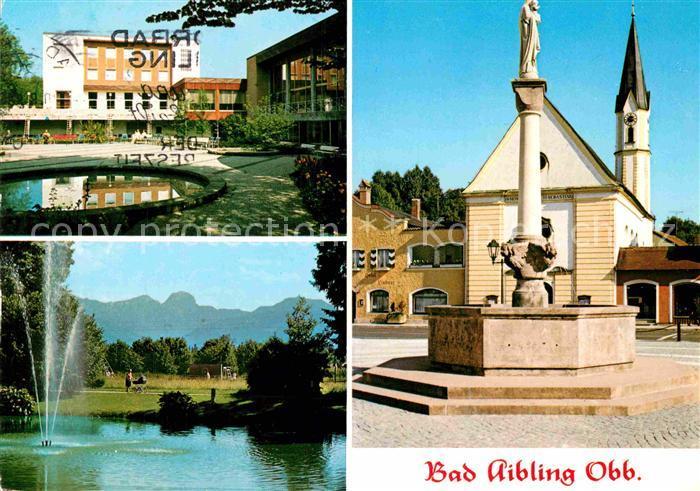 AK / Ansichtskarte Bad Aibling Kurhaus Marienplatz Alpenkette Denkmal Kat. Bad Aibling