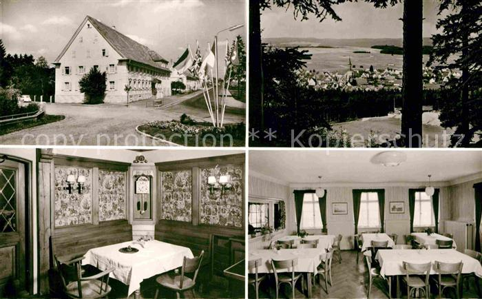 AK / Ansichtskarte Bad Duerrheim Gasthof Pension Roessle Gastraeume Panorama Kat. Bad Duerrheim