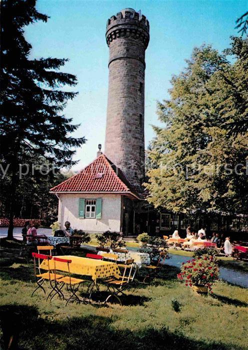 AK / Ansichtskarte Hameln Weser Suentelturm Aussichtsturm Gartenterrasse Gaststaette