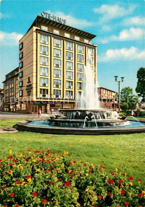 AK / Ansichtskarte Kaiserslautern Fackel Rondell Springbrunnen Ote Haus Hochhaus Kat. Kaiserslautern