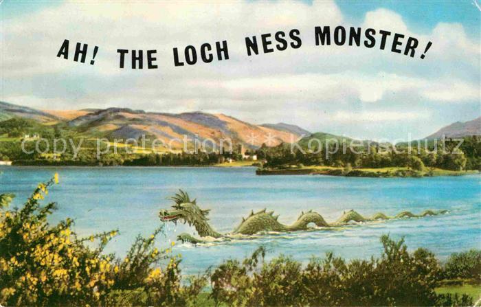 Loch Ness Karte.Ak Ansichtskarte Sagen Maerchen Drache Loch Ness Monster Kat Maerchen Und Sagen