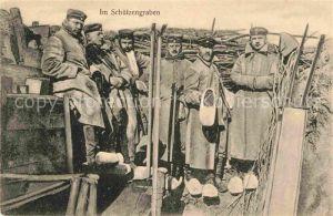 AK / Ansichtskarte Militaria Schuetzengraben das Deutsche Heer im Felde WK1
