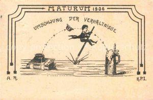 AK / Ansichtskarte Darmstadt Maturum 1906 Karikatur Kat. Darmstadt