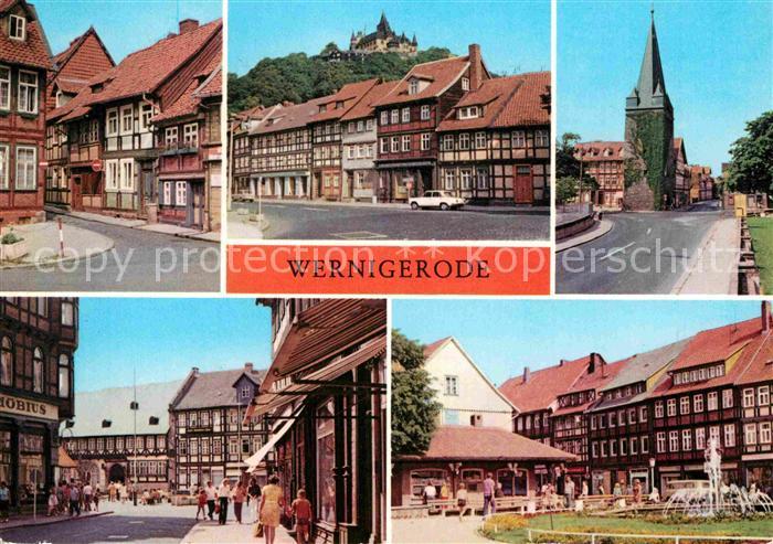 AK / Ansichtskarte Wernigerode Harz Feudalmuseum Schloss Gothisches Haus Nikolaiplatz  Kat. Wernigerode