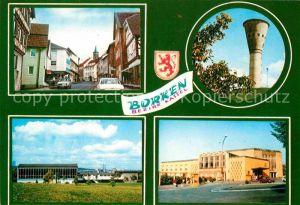 AK / Ansichtskarte Borken Hessen Wasserturm Halle Teilansicht  Kat. Borken (Hessen)