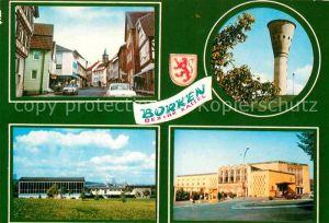 AK / Ansichtskarte Borken Hessen Teilansicht Stadthalle Wasserturm Kat. Borken (Hessen)