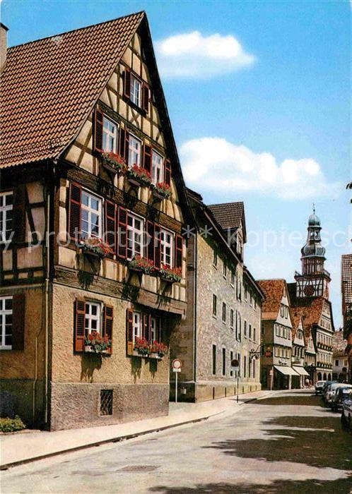 AK / Ansichtskarte Kirchheim Teck Max Eyth Haus Kornhaus Rathaus  Kat. Kirchheim unter Teck