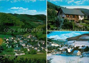 AK / Ansichtskarte Milchenbach Ferienhaus Ferienwohnungen Sommer und Winterpanorama Kat. Lennestadt
