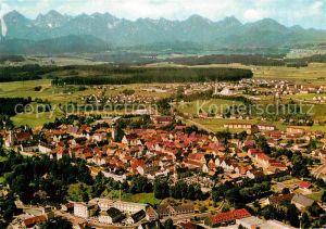 AK / Ansichtskarte Schongau Alpenpanorama Fliegeraufnahme Kat. Schongau