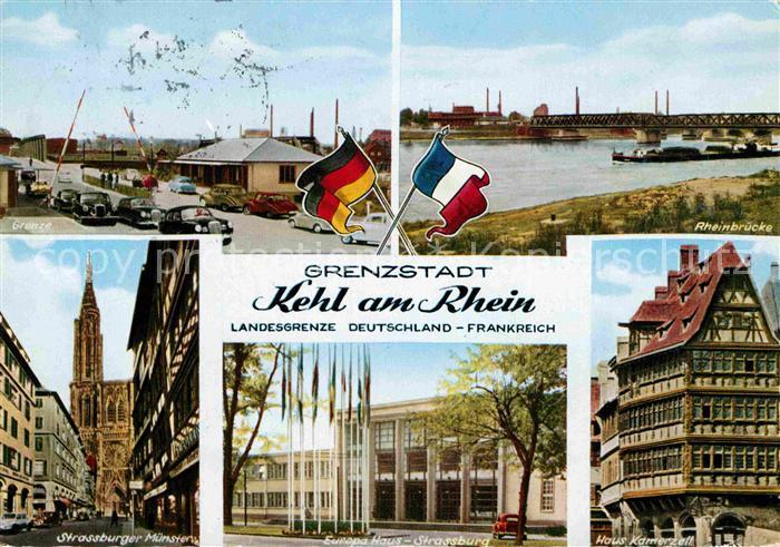 AK / Ansichtskarte Kehl Rhein Grenze Strassburger Muenster Europa Hotel Haus Kamerzell Kat. Kehl