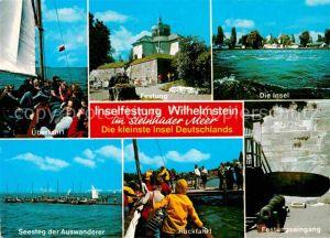 AK / Ansichtskarte Steinhuder Meer Inselfestung Wilhelmstein ueberfahrt Seesteg Auswanderer  Kat. Wunstorf