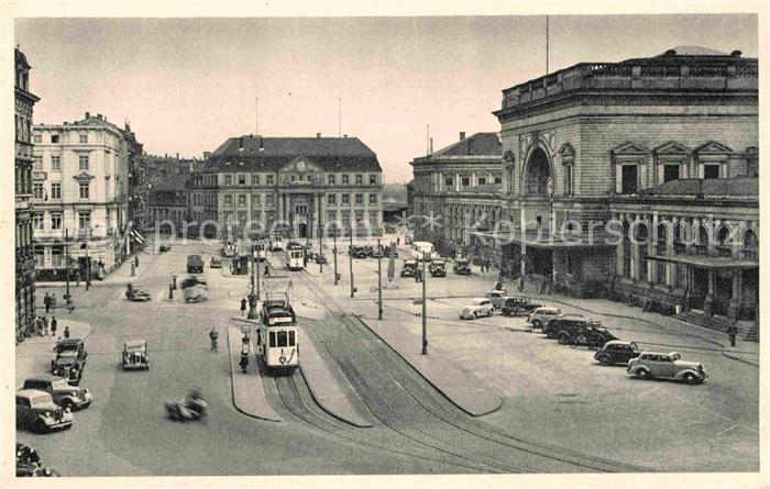 AK / Ansichtskarte Strassenbahn Mannheim Hauptbahnhof Kat. Strassenbahn