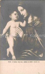 AK / Ansichtskarte Kuenstlerkarte Alte Kuenstler Bernardino Luini Madonna col Bambino  Kat. Kuenstlerkarte