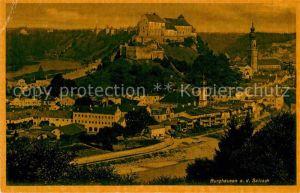 AK / Ansichtskarte Burghausen Salzach Panorama Burg Kirche  Kat. Burghausen