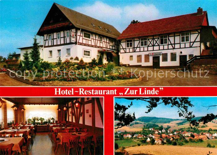 ak bliesransbach hotel restaurant zur linde nr 7166882 oldthing ansichtskarten. Black Bedroom Furniture Sets. Home Design Ideas