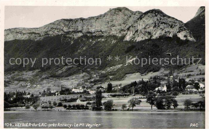 AK / Ansichtskarte Veyrier du Lac Vue generale avec Mont Veyrier Kat. Veyrier du Lac