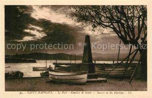 AK / Ansichtskarte Saint Raphael Var Le port coucher de soleil Kat. Saint Raphael