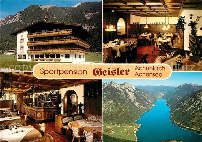 AK / Ansichtskarte Achenkirch Achensee Sport Pension Gasthof Geisler Gastraeume Panorama