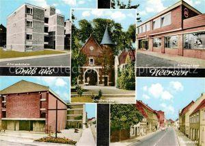 AK / Ansichtskarte Neersen Niederrhein Altenwohnheim Schlosseingang Kreissparkasse Kath Pfarrkirche Hauptstrasse Kat. Willich