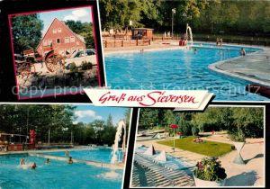 AK / Ansichtskarte Sieversen Schwimmbad Kat. Rosengarten