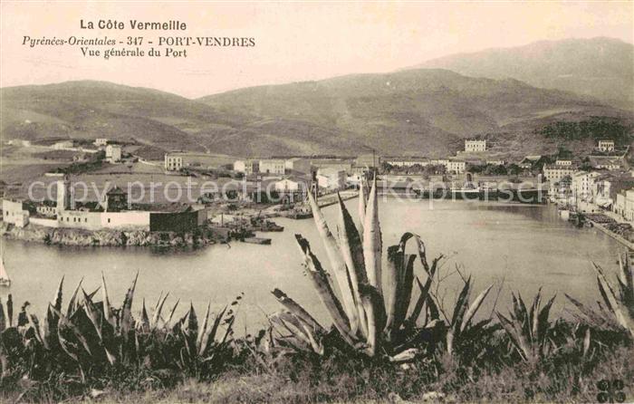 AK / Ansichtskarte Port Vendres Vue generale du Port La Cote Vermeille Kat. Port Vendres