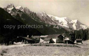 AK / Ansichtskarte Argentiere Haute Savoie Hameau de la Joux et le Mont Blanc Kat. Chamonix Mont Blanc